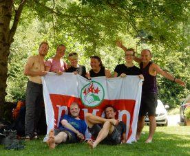 Spring Reizen is een werkgroep van Nivon natuurvrienden, hier een groepsfoto van een opleidingsweek tot reisbegeleider (Niels Wheeler)