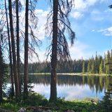 Kampplek aan een prachtig meer in de Rocky Mountains (Jitske)