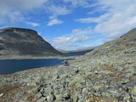 In dit ruige Noorse landschap wandelen we 20 km per dag, dat maakt deze huttentocht best pittig (Roos Lantink)